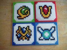 Zelda coasters perler beads by bodiesmakehomes