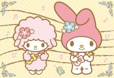 My Melody and Sweet Piano My Melody Wallpaper, Sanrio Wallpaper, Friends Wallpaper, Hello Kitty Wallpaper, Hello Kitty Characters, Sanrio Characters, Baby Friends, Cute Friends, Badtz Maru