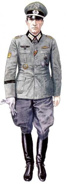 """WEHRMACHT - Oberst der Kavalerie, 5° Regiment """"von Mackensen"""", 4. Kavalerie DIvision, Austria, 1945"""