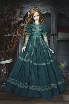Oak Leaf OOAK handmade dress set for bjd dollfie sd sd10 sd13