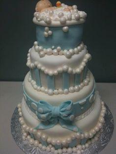 GLAMOUR CAKES baby boy shower cake