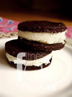 Nepečené cookies Oreo Cookies, Oreos, Tiramisu, Smoothie, Cheesecake, Paleo, Menu, Ethnic Recipes, Fit