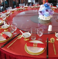 Chinese Wedding Custom Tablescape Ideas