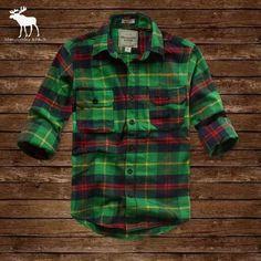Mens Abercrombie Fitch Long Plaid Shirt 203 [AbercrombieFitch 1106] - $42.99 : , Cheap Abercrombie Fitch store online