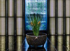 layan design group / puli spa hotel, shanghai (floral installation: alfie lin design)