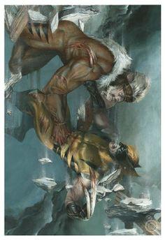 Wolverine vs Sabertooth by Satine Zillah