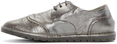 Marsèll Gomma: Silver Leather Brogues | SSENSE