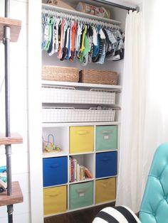 DIY Custom Nursery Closet | Cape27Blog.com