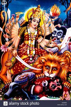 Stock Photo - Kali Hindu Goddess Of Death & Destruction And Creation & Fertility Durga Kali, Shiva Hindu, Shiva Shakti, Hindu Deities, Hindu Art, Maa Kali Photo, Sanskrit, Maa Image, Shiva Parvati Images