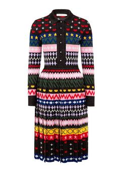 I like this from Mary Katrantzou Online... The knitted Mary Katrantzou Cecile Dress, features an eclectic pattern of lips, stars and arrows