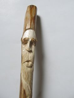 Walking Stick Wood Spirit Hiking Stick Hand Carved Staff Carved Face Carved Stick Gift for Hiker Gift for Walker Birthday Anniversary by NorthWindCarvings on Etsy