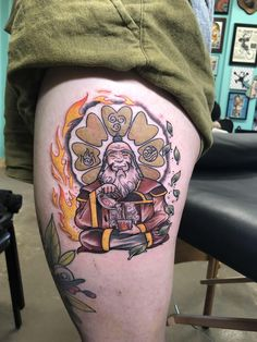 My new and absolutely perfect Uncle Iroh tattoo by at Black Ra. - My new and absolutely perfect Uncle Iroh tattoo by at Black Rabbit Tattoo in Rich - Nerdy Tattoos, Cartoon Tattoos, Anime Tattoos, Love Tattoos, Body Art Tattoos, Tattoos For Guys, Bookish Tattoos, Anchor Tattoos, Thigh Tattoos