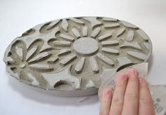 diy embossed stepping stones, concrete masonry, crafts, gardening, outdoor living