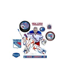 NHL Henrik Lundqvist New York Rangers Wall Decal by Fathead. Save 8 Off!. $91.77. The Fathead wall graphic is made from tough, tear and fade-resistant vinyl and features high-resolution 3D graphics. The player includes additional separate mini graphics of the team logo and Fathead shield. Fathead wall graphics use a low-tack adhesive and can be moved and removed from walls without damaging surfaces.