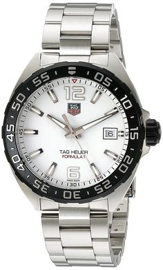 TAG Heuer Men's WAZ1111,BA0875 Formula 1 Stainless Steel Bracelet Watch >>> Check out the image by visiting the link.