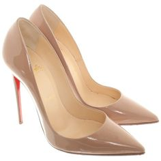 Pre-owned pumps in Nude (£405) ❤ liked on Polyvore featuring shoes, pumps, heels, sapatos, nude, christian louboutin pumps, nude court shoes, christian louboutin, nude pumps and nude shoes