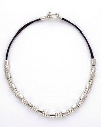Handmade necklace with sterling silver plated base metal. Made in Spain. Designed by Haim Shahar. Lead and nickel free.