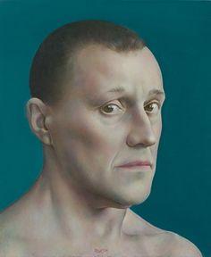 Self Portrait (2011) by Latvian painter Normunds Brasliņš (b.1962). Oil on canvas. 29 x 24 cm. via the artist's site