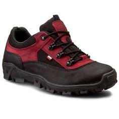 Trekkingová obuv WOJAS - 0601-99 Bordó Černá