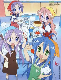 When Konata eat all the ingredients - Lucky⭐Star ~ DarksideAnime Star Anime, K On Anime, Anime Nerd, Old Anime, Anime Kawaii, Anime Demon, Sailor Moon, Moe Manga, Haruhi Suzumiya