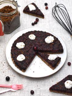 Vegane Cranberry-Tarte mit Pekanüssen