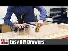 Want to learn how to make drawers for your next project? I'll show you how to build a drawer in 6 easy steps! These DIY drawers are quick to make and very strong and you don't even need a table saw to make them. How To Make Drawers, Diy Drawers, Wood Drawers, Cabinet Drawers, Woodworking Projects Diy, Woodworking Furniture, Furniture Plans, Diy Furniture, Woodworking Plans