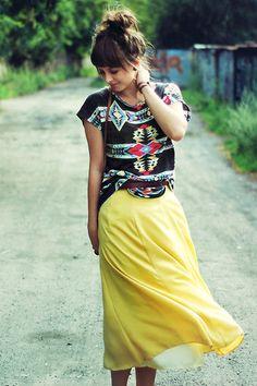 Zara Top, Vintage Skirt