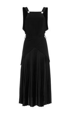 Pleated Sleeveless Dress by MUGLER for Preorder on Moda Operandi