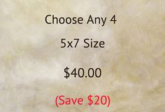 Choose Any 4  5x7 Size  Big Savings by RichardandPatty on Etsy