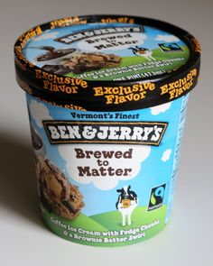 """Pin for Later: The Most Exclusive Ben & Jerry's Ice Cream Flavors Ben & Jerry's Brewed to Matter A Target exclusive, Brewed to Matter stars """"coffee ice cream with fudge chunks and a brownie batter swirl. Apple Pie Oatmeal, Oatmeal Recipes, Coffee Ice Cream, Love Ice Cream, Star Coffee, Brownie Batter, Ice Cream Flavors, Ben And Jerrys Ice Cream, Frozen Yogurt"""