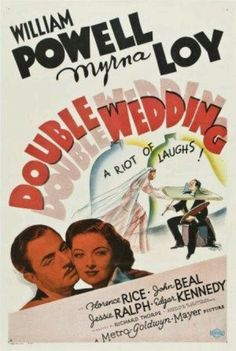 Myrna Loy and William Powell in Double Wedding.