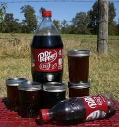 Dr. Pepper Jelly 8 oz Jam Preserves Homemade or Coca Cola Coke Root Beer Soda Pop - pinned by pin4etsy.com