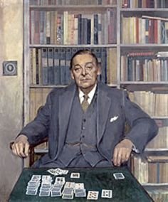 T. S. Eliot (26 september 1888 – 4 januari 1965)  - Portret door Gerald Kelly