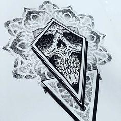 Skull jamz email woodfarmtattoo@gmail.com to book in #tattoo #skull #skulltattoo #illustration #dotwork #dots #dotshading #dotworktattoo #mandala #mandalatattoo #geometric #geometrictattoo #sacredgeometry #stippling #pointillism #blackwork #blacktattoo #stokedontattooing #woodfarm by woodfarm