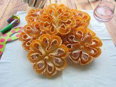 Una pincelada en la cocina: flores de carnaval, paso a paso