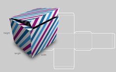 Provides the link to a site that allows you to create your own custom box template according to whatever size your gifts are. Just print the template on patterned cardstock, fold it into a box, and secure the tabs! Voila, your gift box! Box Template Maker, Box Templates, Envelope Templates, Origami Templates, Online Templates, Envelope Design, Diy Paper, Paper Crafts, Foam Crafts