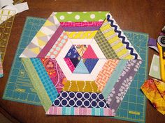 Sew Hungry: String-A-Hex Block Tutorial