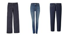 Boden wide-leg jean, $78 bodenusa.com Levi's high-rise skinny jeans, $69 houseoffraser.co.uk Uniqlo pure blue Japan slim boyfriend jeans, $70 uniqlo.com - Photo: (from left) Courtesy of bodenusa.com; Courtesy of houseoffraser.co.uk; Courtesy of Uniqlo
