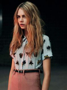 Cara. sweet the pattern blouse with high waisted pants