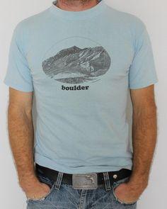 Vintage Boulder Colorado TShirt by HardWearVintage on Etsy, $23.85