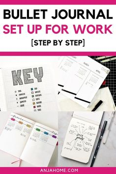 Bullet journal layout ideas for work  #anjahome #bulletjournal