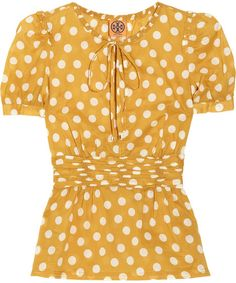 yellow and polka dots...my two loves