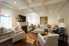 Meredith Heron Design : colorful living room.