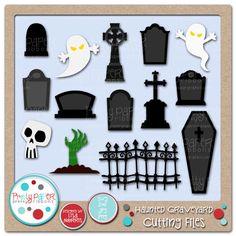 Pretty Paper, Pretty Ribbons Haunted Graveyard Cutting Files