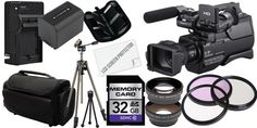 Package Contents: 1- #Sony HXR-MC2000U Shoulder Mount AVCHD Camcorder with all supplied accessories 1- 32GB SDHC Class 10 Memory Card 1- Rechargeable Lithium Io...