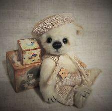 *Cheri* Fiala* Künstlerteddy Bär Teddy aus Mohair-Alpaka 13cm groß Unikat