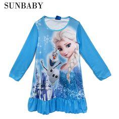sophia pokemon long sleeve nightgown baby girls dress