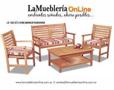 Muebles de Jardin linea Ecomadera en laMuebleriaOnLIne.com.ar