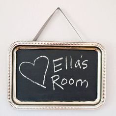 Make one for each student. Prek. Homemade Chalkboard Paint Wall Hanging   25 Of The Best Toddler Crafts For LittleHands