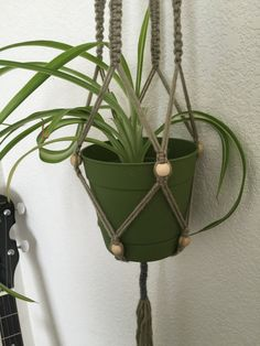 Macrame plant hanger yarn by KreationKaat on Etsy